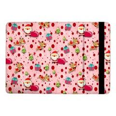 Red Christmas Pattern Samsung Galaxy Tab Pro 10 1  Flip Case by KirstenStar