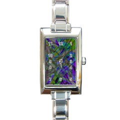 Colorful Abstract Stained Glass G301 Rectangle Italian Charm Watches by MedusArt
