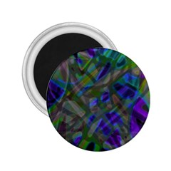 Colorful Abstract Stained Glass G301 2 25  Magnets by MedusArt