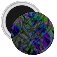 Colorful Abstract Stained Glass G301 3  Magnets by MedusArt