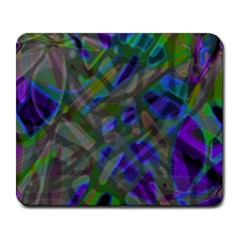 Colorful Abstract Stained Glass G301 Large Mousepads by MedusArt