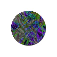 Colorful Abstract Stained Glass G301 Magnet 3  (round) by MedusArt