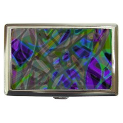 Colorful Abstract Stained Glass G301 Cigarette Money Cases by MedusArt