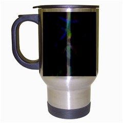 Colorful Abstract Stained Glass G301 Travel Mug (silver Gray) by MedusArt
