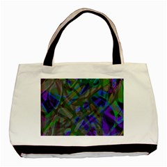 Colorful Abstract Stained Glass G301 Basic Tote Bag  by MedusArt
