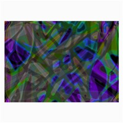 Colorful Abstract Stained Glass G301 Large Glasses Cloth (2 Side) by MedusArt