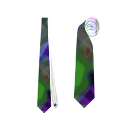 Colorful Abstract Stained Glass G301 Neckties (two Side)  by MedusArt