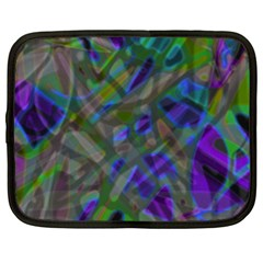 Colorful Abstract Stained Glass G301 Netbook Case (xxl)  by MedusArt