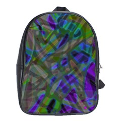 Colorful Abstract Stained Glass G301 School Bags(large)  by MedusArt