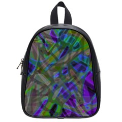 Colorful Abstract Stained Glass G301 School Bags (small)  by MedusArt