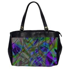 Colorful Abstract Stained Glass G301 Office Handbags (2 Sides)  by MedusArt