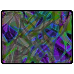 Colorful Abstract Stained Glass G301 Fleece Blanket (large)  by MedusArt