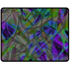 Colorful Abstract Stained Glass G301 Fleece Blanket (medium)  by MedusArt