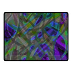 Colorful Abstract Stained Glass G301 Fleece Blanket (small) by MedusArt