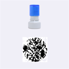Colorful Abstract Stained Glass G301 Rubber Round Stamps (small)