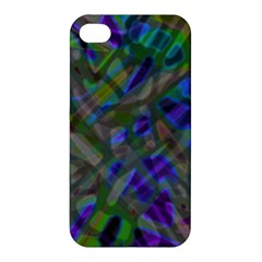 Colorful Abstract Stained Glass G301 Apple Iphone 4/4s Hardshell Case by MedusArt