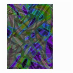 Colorful Abstract Stained Glass G301 Small Garden Flag (two Sides) by MedusArt