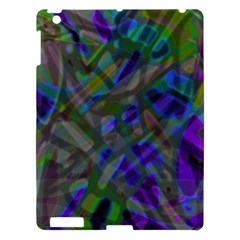 Colorful Abstract Stained Glass G301 Apple Ipad 3/4 Hardshell Case by MedusArt