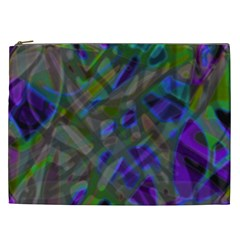 Colorful Abstract Stained Glass G301 Cosmetic Bag (xxl)  by MedusArt
