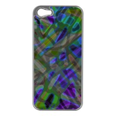 Colorful Abstract Stained Glass G301 Apple Iphone 5 Case (silver) by MedusArt