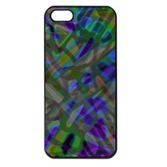 Colorful Abstract Stained Glass G301 Apple Iphone 5 Seamless Case (black) by MedusArt