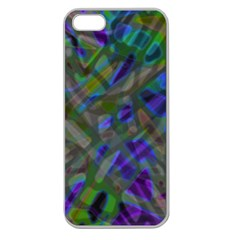 Colorful Abstract Stained Glass G301 Apple Seamless Iphone 5 Case (clear) by MedusArt