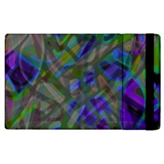Colorful Abstract Stained Glass G301 Apple Ipad 3/4 Flip Case by MedusArt