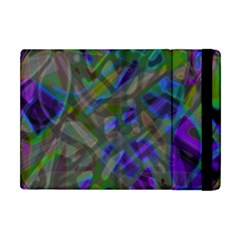 Colorful Abstract Stained Glass G301 Apple Ipad Mini Flip Case by MedusArt