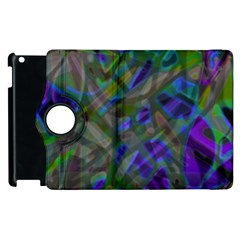 Colorful Abstract Stained Glass G301 Apple Ipad 3/4 Flip 360 Case by MedusArt