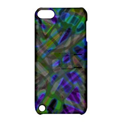 Colorful Abstract Stained Glass G301 Apple Ipod Touch 5 Hardshell Case With Stand by MedusArt