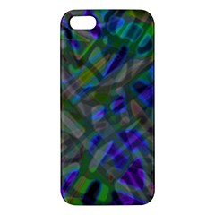 Colorful Abstract Stained Glass G301 Apple Iphone 5 Premium Hardshell Case by MedusArt
