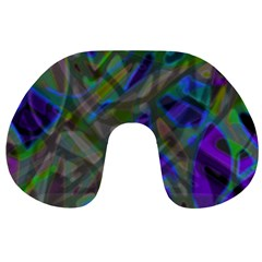 Colorful Abstract Stained Glass G301 Travel Neck Pillows by MedusArt