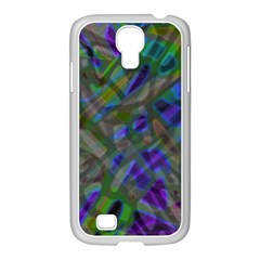 Colorful Abstract Stained Glass G301 Samsung Galaxy S4 I9500/ I9505 Case (white) by MedusArt