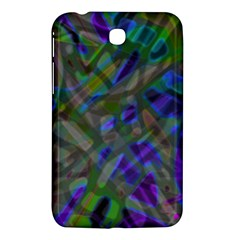 Colorful Abstract Stained Glass G301 Samsung Galaxy Tab 3 (7 ) P3200 Hardshell Case  by MedusArt