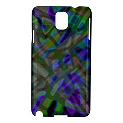 Colorful Abstract Stained Glass G301 Samsung Galaxy Note 3 N9005 Hardshell Case by MedusArt