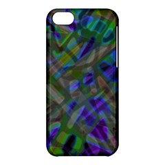 Colorful Abstract Stained Glass G301 Apple Iphone 5c Hardshell Case by MedusArt