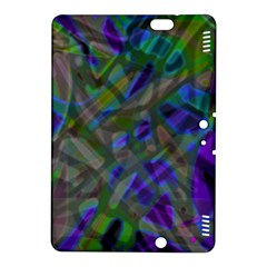 Colorful Abstract Stained Glass G301 Kindle Fire Hdx 8 9  Hardshell Case by MedusArt