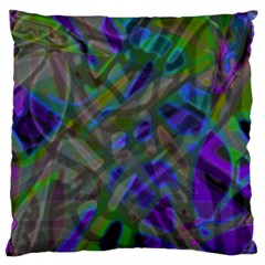 Colorful Abstract Stained Glass G301 Standard Flano Cushion Cases (one Side)  by MedusArt