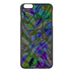 Colorful Abstract Stained Glass G301 Apple Iphone 6 Plus/6s Plus Black Enamel Case by MedusArt