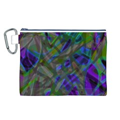 Colorful Abstract Stained Glass G301 Canvas Cosmetic Bag (l) by MedusArt