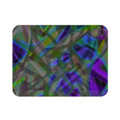Colorful Abstract Stained Glass G301 Double Sided Flano Blanket (mini)  by MedusArt