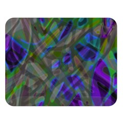 Colorful Abstract Stained Glass G301 Double Sided Flano Blanket (large)  by MedusArt