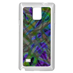 Colorful Abstract Stained Glass G301 Samsung Galaxy Note 4 Case (white) by MedusArt