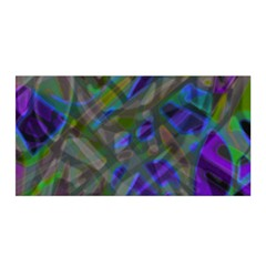 Colorful Abstract Stained Glass G301 Satin Wrap by MedusArt