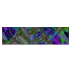 Colorful Abstract Stained Glass G301 Satin Scarf (oblong) by MedusArt