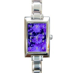 Phenomenal Blossoms Blue Rectangle Italian Charm Watches