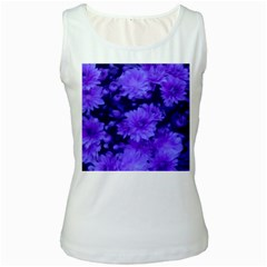 Phenomenal Blossoms Blue Women s Tank Tops