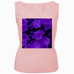 Phenomenal Blossoms Blue Women s Pink Tank Tops