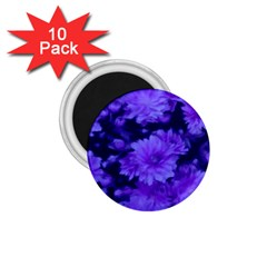 Phenomenal Blossoms Blue 1 75  Magnets (10 Pack)