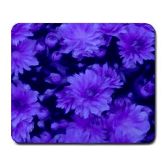 Phenomenal Blossoms Blue Large Mousepads
